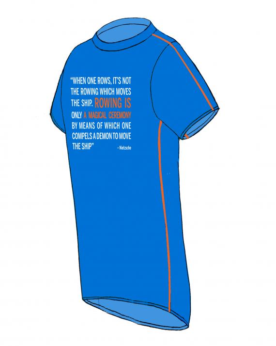 Nietsche T-shirt-Azur-Side