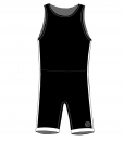 BASIC-Striped combat suit -BlackWhite-Man_FRONT