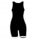 BASIC-Striped combat suit -BlackWhite-Woman_BACK