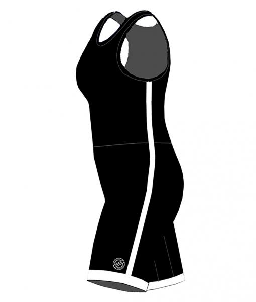 BASIC-Striped combat suit -BlackWhite-Woman_SIDE