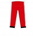 RIO Capris_Red_ black-white-Unisex_BACK