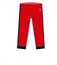 RIO Capris_Red_ black-white-Unisex_FRONT