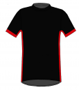 RIO T-shirt-Black_ red-white-Unisex_FRONT
