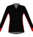 RIO T-shirt L.S.- Black_red-white-Unisex_FRONT