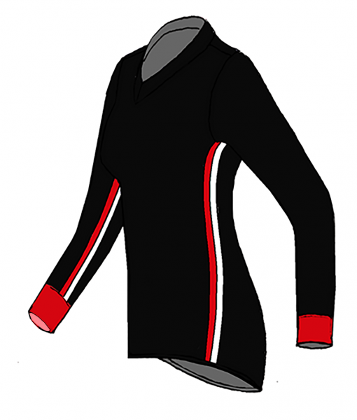 RIO T-shirt L.S.- Black_red-white-Unisex_SIDE