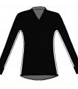 RIO T-shirt L.S.- Black_white-white-Unisex_FRONT