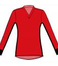 RIO T-shirt L.S.- Red _ black-white-Unisex_FRONT