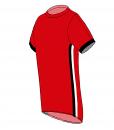 RIO T-shirt- Red_ Black-white-Unisex_SIDE