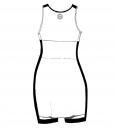 SARAH-Combat Dress-White-black-Woman_BACK