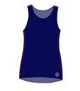 KYOTO-TankTop – marine-rød FRONT