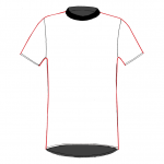 Melbourne T-shirt  white-black-red_FRONT