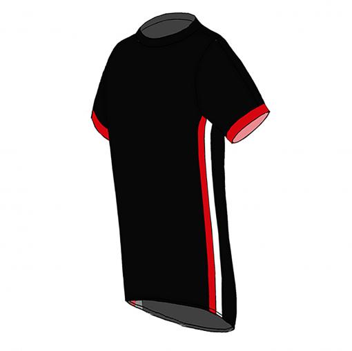 RIO T-shirt-Black_ red-white-Unisex_SIDE