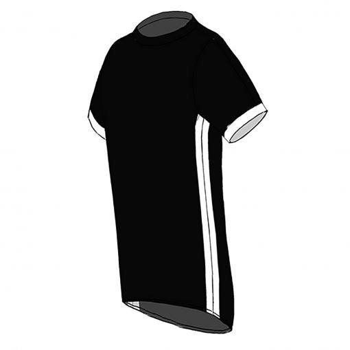 RIO T-shirt- Black_ white-white-Unisex_SIDE