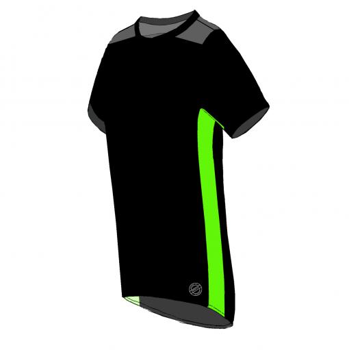 ROMA T-shirt – SORT -LIME-SIDE