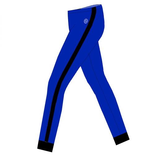 Tights-Rio x-Royal blue-sort-SIDE