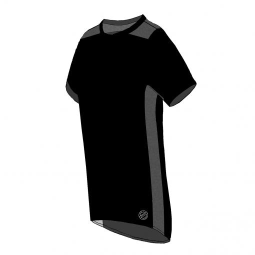 ROMA T-shirt – SORT – SORT MESH – SIDE