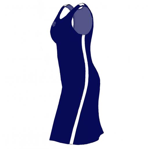 Supporter – Kjole- marine-hvid- SIDE
